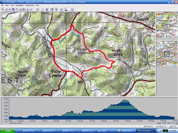 Cub Race Topographical Map