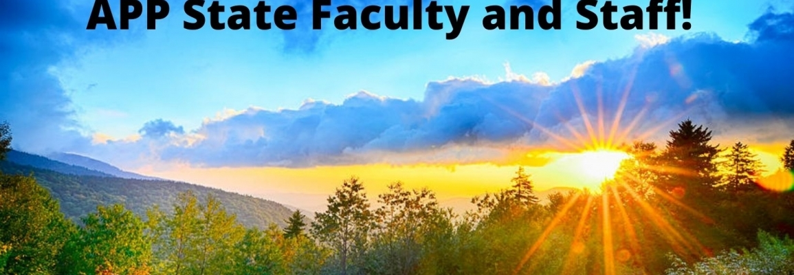 App State Faculty and Staff Banner