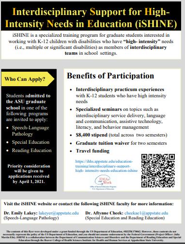 Ishine Program Description Flyer